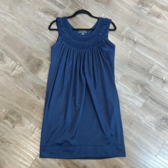 ❄️3/$25 Satiny Navy Blue Loose Shift Dress Pockets